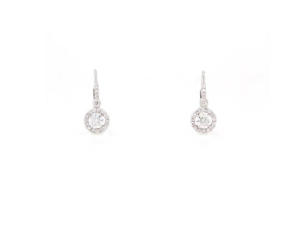 Beverley K Collection Diamond Halo Earrings