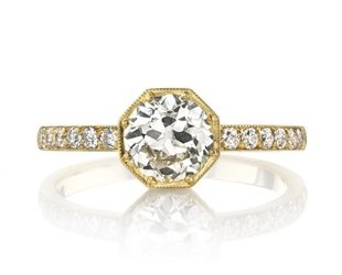 Single Stone Emerson Old European Diamond Ring SI133