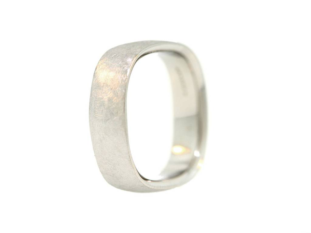 Textured Stainless Steel Square Band