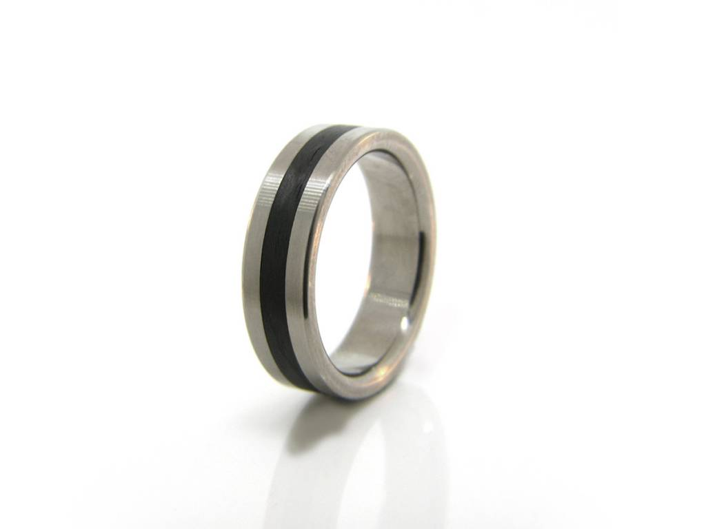 Titanium and Carbon Fiber Band