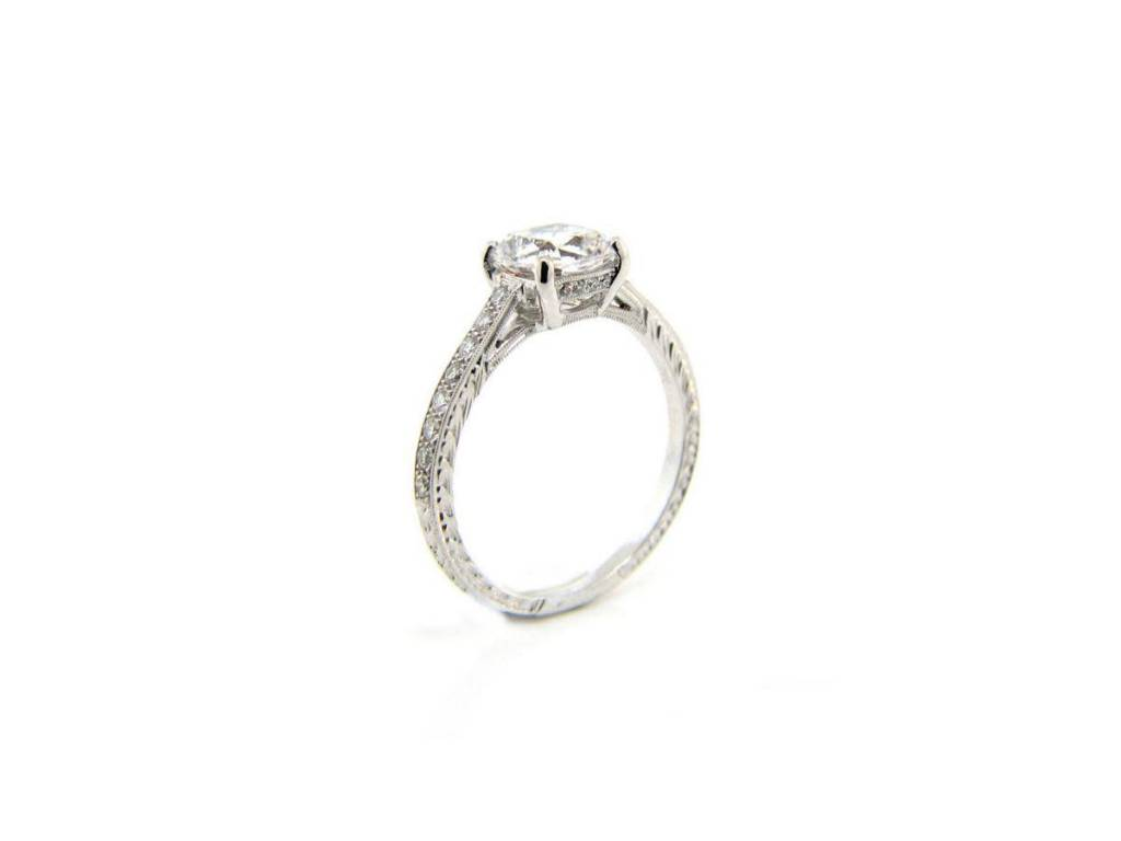 Beverley K Collection Diamond Pave Ring Shank Mounting