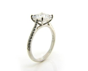 Vatche Tapered Diamond Pave Band Setting V17