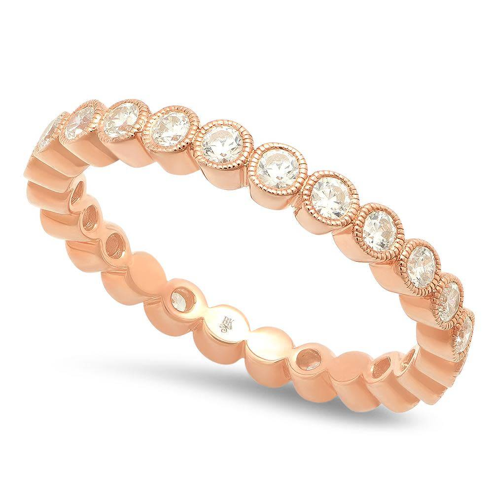 Beverley K Collection Diamond Bezel Eternity Band