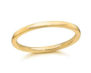 Trabert Goldsmiths 1.5mm 18k Yellow Gold Aura Band GU49