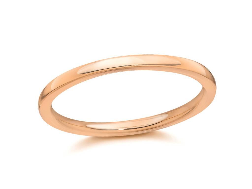 Trabert Goldsmiths 1.5mm 18k Rose Gold Aura Band