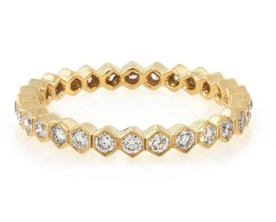 Beverley K Collection Diamond Hexagonal Eternity Band AB440