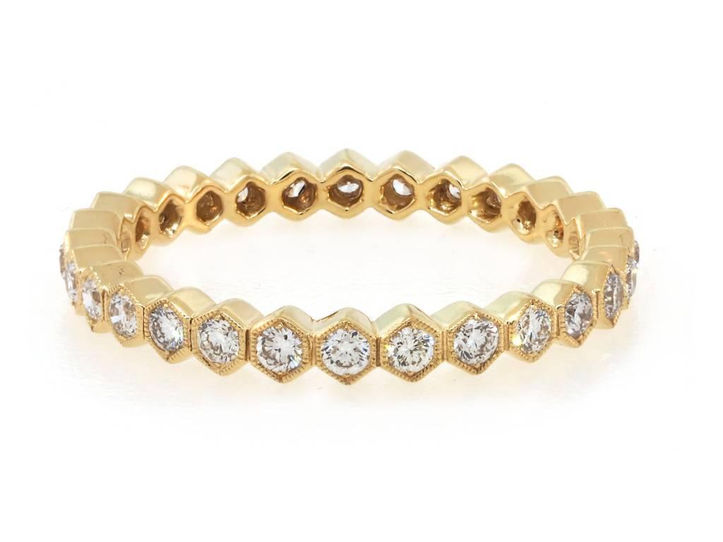 Beverley K Collection Diamond Hexagonal Eternity Band
