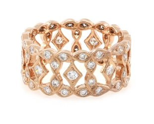 Beverley K Collection Wide Marquise Diamond Band AB441