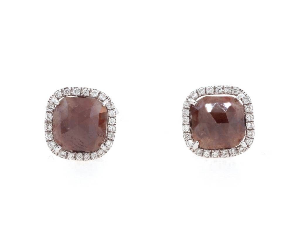 Brick Diamond Earrings