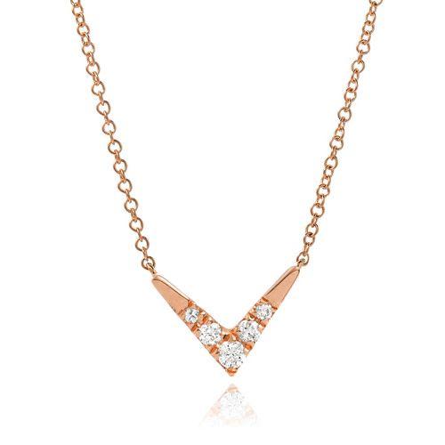 Liven Small Boomerang Diamond Necklace