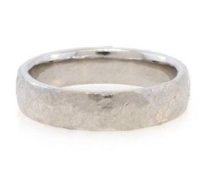 Trabert Goldsmiths Platinum Textured 'Alchemy' 5mm Band E1504