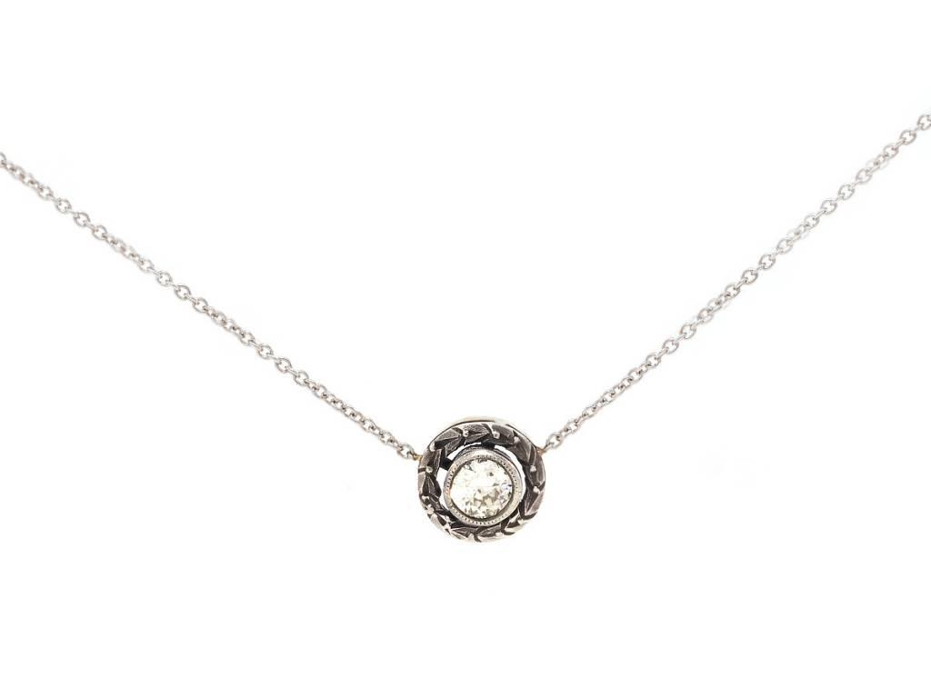 Trabert Goldsmiths Antique Diamond Bezel Pendant