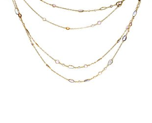 Trabert Goldsmiths Long Pastel Sapphire Necklace KW60