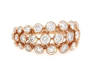 Trabert Goldsmiths Bezel Set Dia Rose Gold Dome Ring GAM12