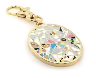 Trabert Goldsmiths Oval Aura Diamond Keycharm by Diamond Doodles