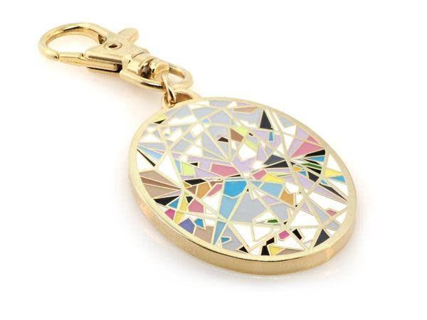 Trabert Goldsmiths Oval Aura Diamond Keycharm by Diamond Doodles