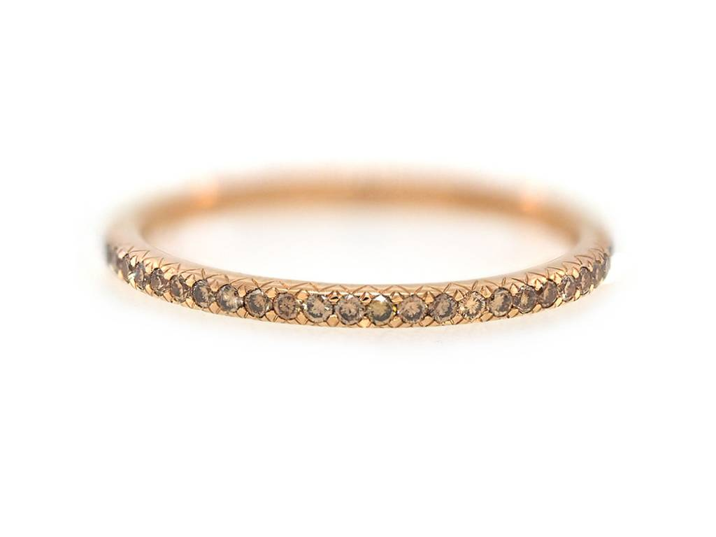 Trabert Goldsmiths Champagne Diamond Eternity Band