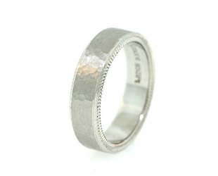 Per Amore Quoin Edge Hammered Texture Band PA7