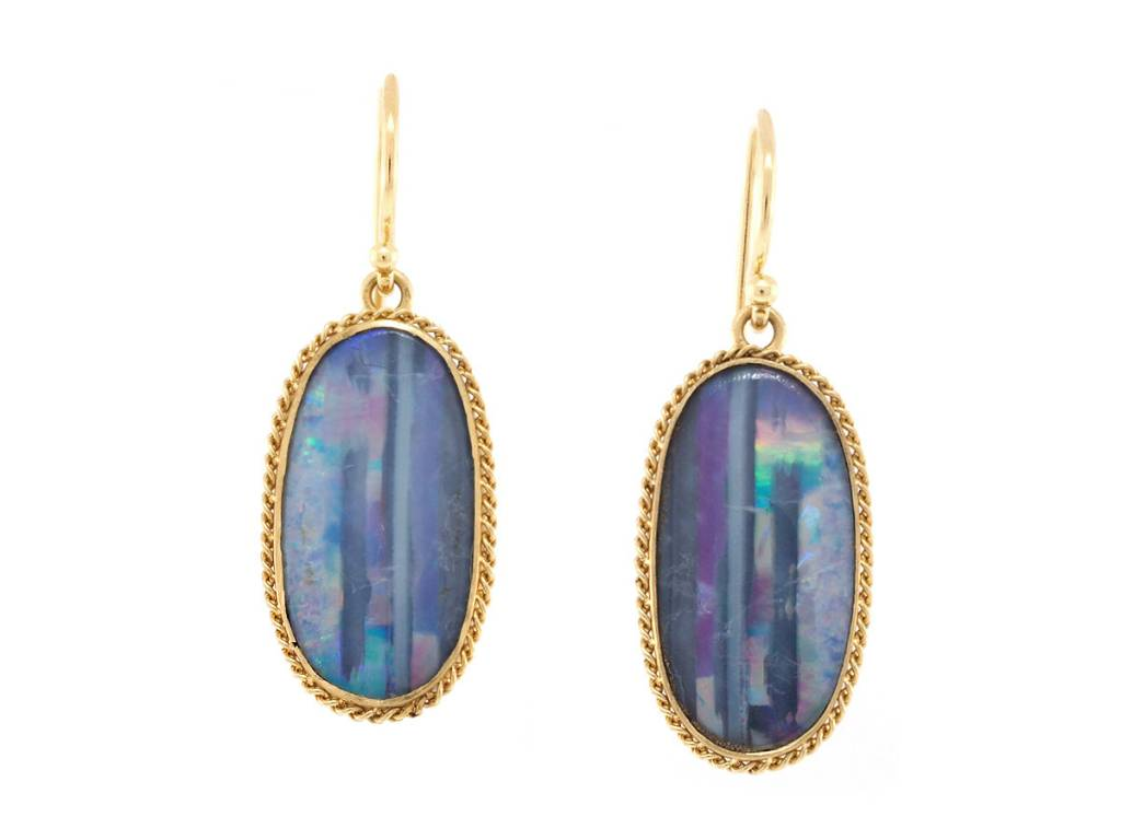 Amali Powder Blue Opal Earrings