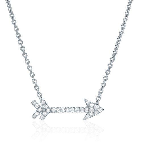 Liven Diamond Pave Arrow Necklace