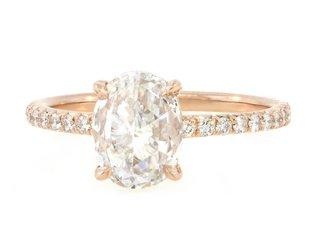 Trabert Goldsmiths 1.22ct DVS2 Oval Rose Cut Diamond Polaris Ring E1606
