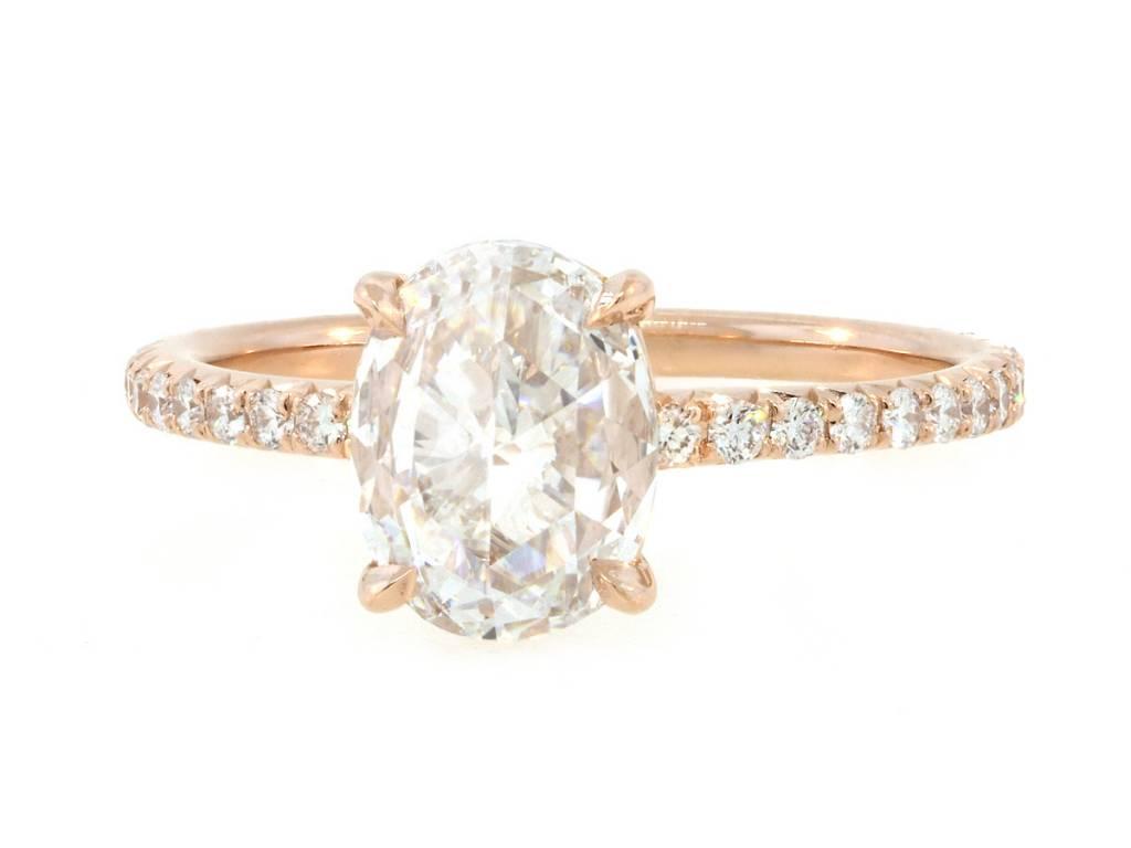 Trabert Goldsmiths 1.22ct DVS2 Oval Rose Cut Diamond Polaris Ring