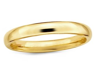 Trabert Goldsmiths 4mm Half Round 14ky Gold Band E1623