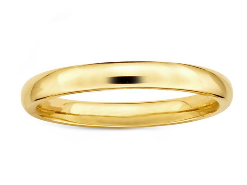 Trabert Goldsmiths 3mm Men's Half Round Gold Band
