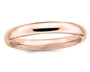 Trabert Goldsmiths 4mm Half Round Men's 14k Rose Gold Band E1625