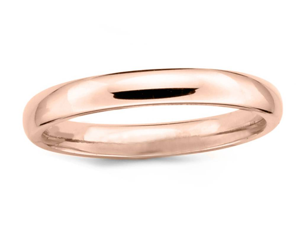 Trabert Goldsmiths 4mm Half Round Men's 14k Rose Gold Band