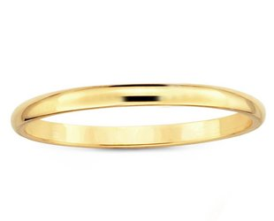 Trabert Goldsmiths 2mm Half Round Yellow Gold Band E1628