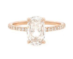 Trabert Goldsmiths 1.08ct DVS2 Rose Cut Dia Polaris Ring E1615C