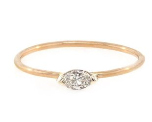 Trabert Goldsmiths Mini Marquise Diamond Ring E1437