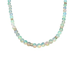 Trabert Goldsmiths Ethiopian Opal Beaded Necklace E1621