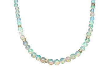 Trabert Goldsmiths Ethiopian Opal Beaded Necklace E1621