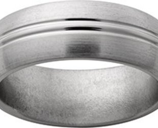 Titanium Band with 2 Center Grooves JI35