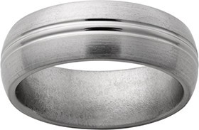 Titanium Band with 2 Center Grooves