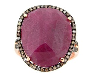 Dilamani Rose Cut Ruby Ring DL2