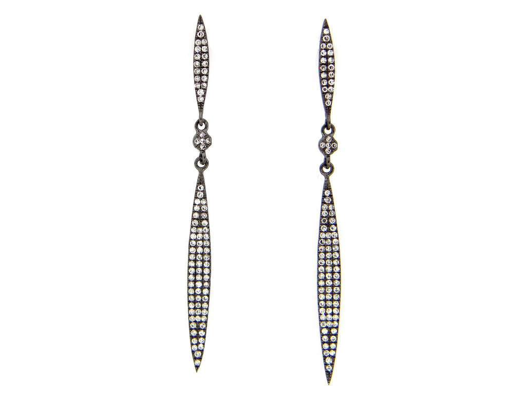 Diamond Spear Earrings