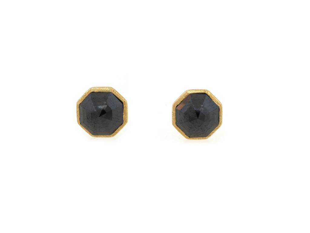 Dilamani Black Diamond Octagon Earrings