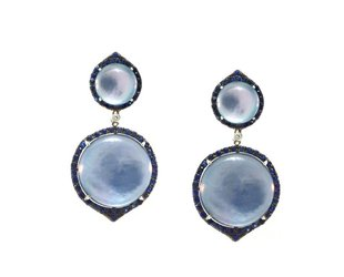 Dilamani Lapis Shell & Sapphire Statement Earrings DL10