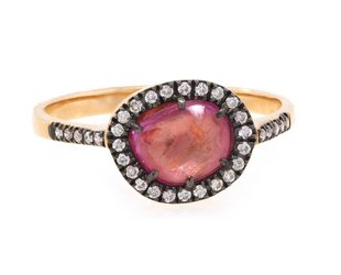 Dilamani Pink Sapphire and Diamond Ring DL15