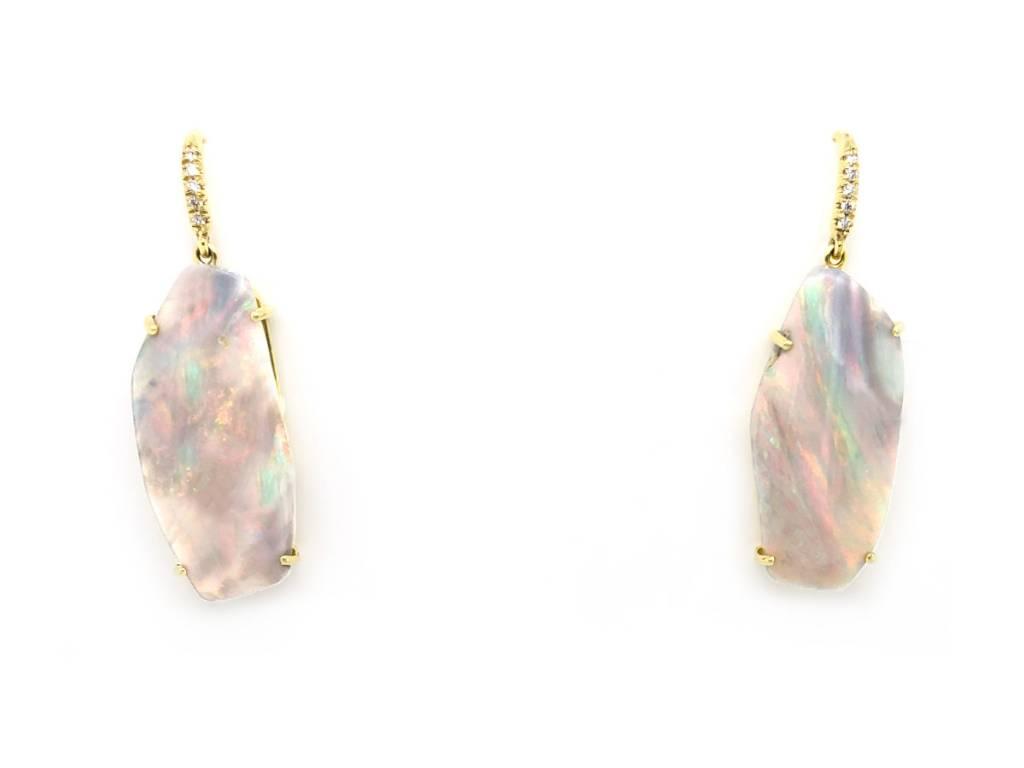 Boulder Opal Drop Earrings LK31