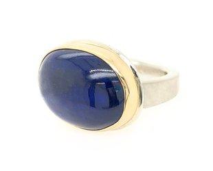 Jamie Joseph Jewelry Designs Oval Kyanite Bezel Ring JD123