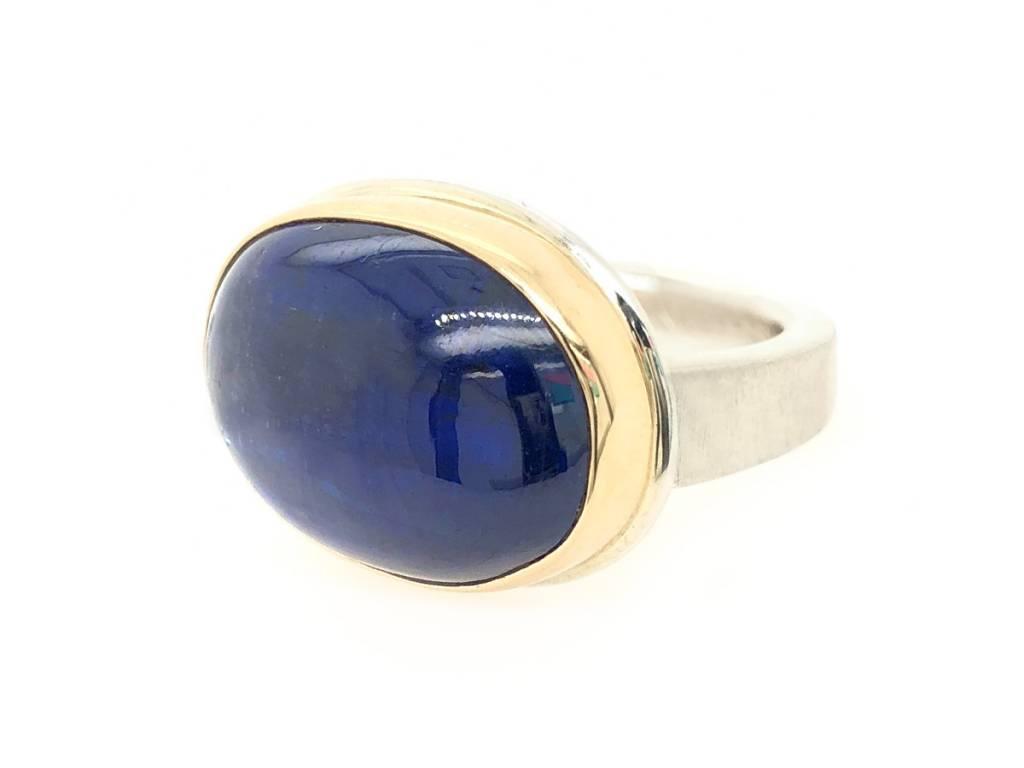 Jamie Joseph Jewelry Designs Oval Kyanite Bezel Ring