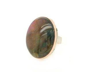 Jamie Joseph Jewelry Designs Large Oval Purple Labradorite Ring JD122