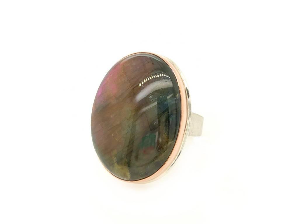 Jamie Joseph Jewelry Designs Large Oval Purple Labradorite Ring