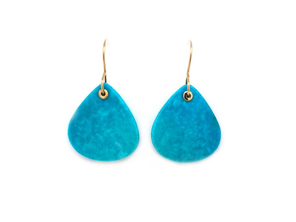 Jamie Joseph Jewelry Designs Lotus Kingman Turquoise Drop Earrings