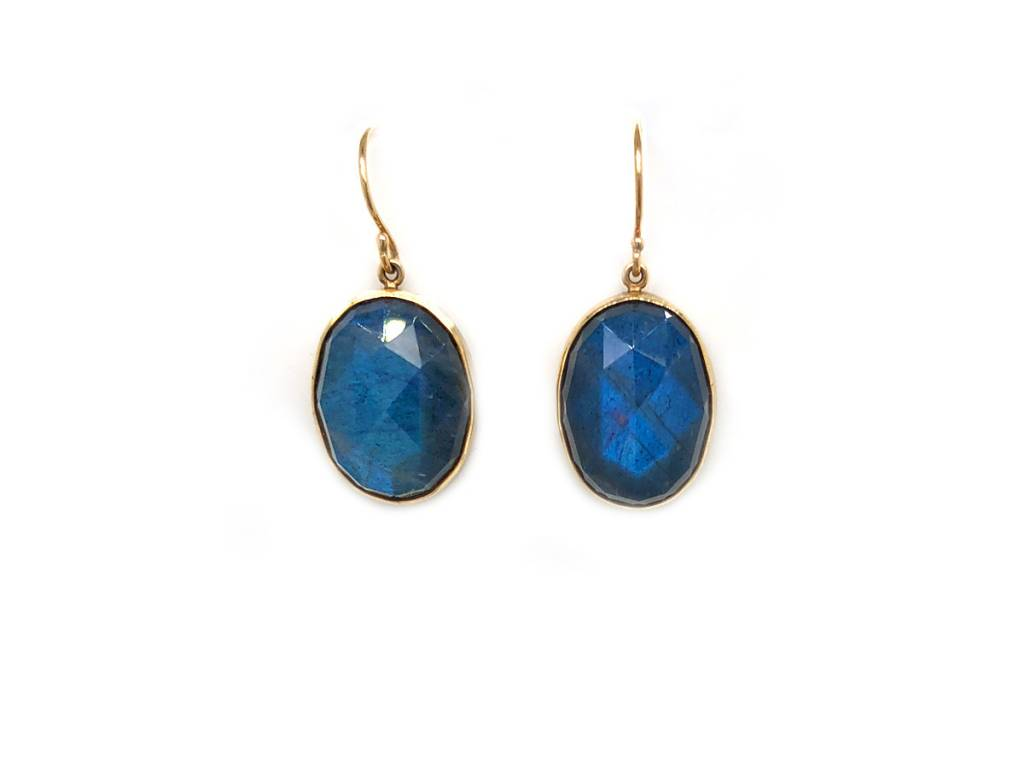 Jamie Joseph Jewelry Designs Oval Labradorite Drop Earrings