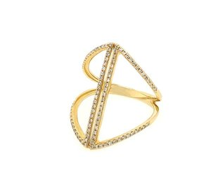 Luvente Geometric Open Pave Diamond Ring LV68